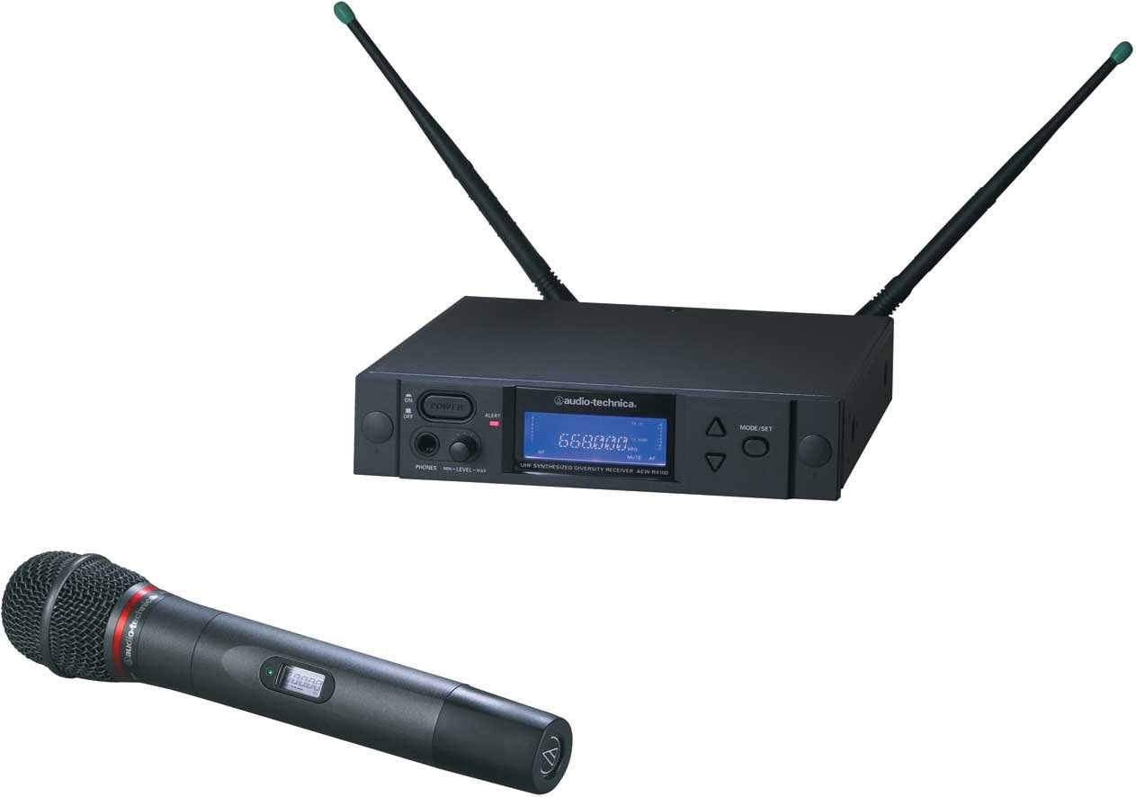 Wireless Handheld Microphone System, AEW-T4100 Cardioid Dynamic Mic, Band C: 541.500 to 566.375 MHz