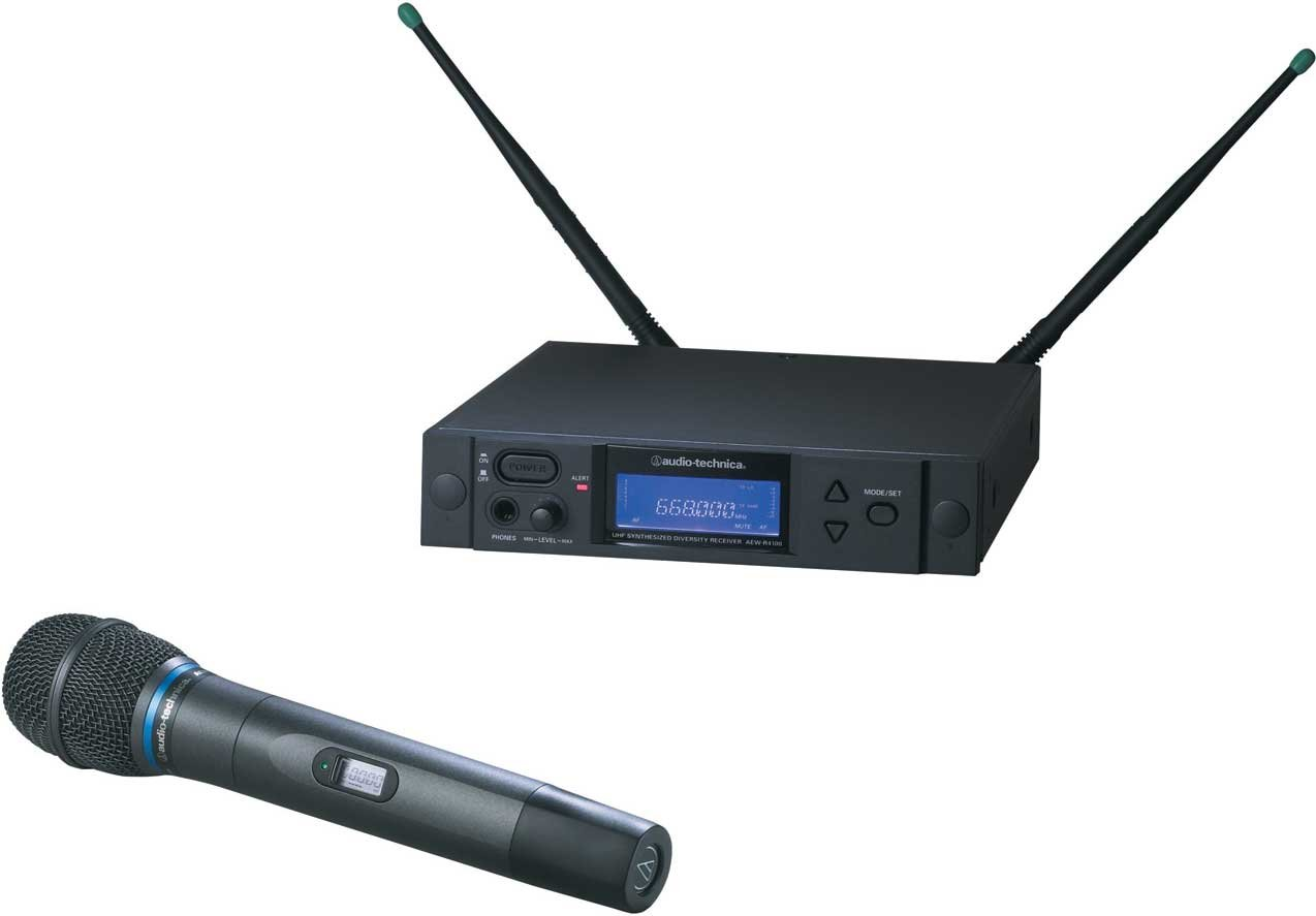 Wireless Handheld Microphone System, AEW-T5400 Cardioid Condenser Mic, Band C: 541.500 to 566.375 MHz