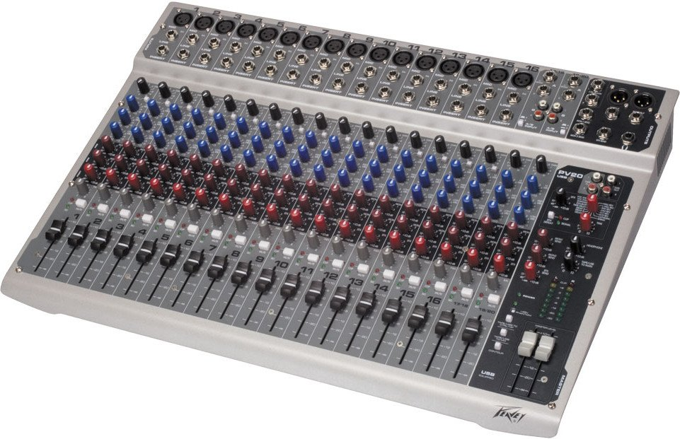 20-Channel Console Mixer with USB Port