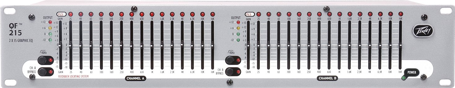 Dual Channel Graphic EQ (15 Bands/CH)