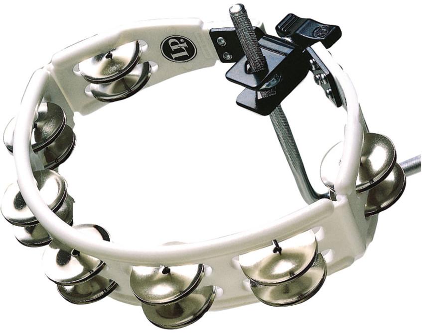 Cyclops Mountable Tambourine in Black with Steel Jingles