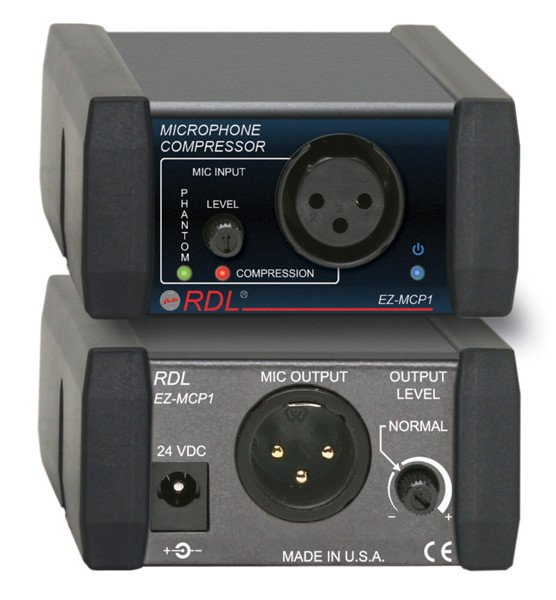 Microphone Compressor with Power Supply