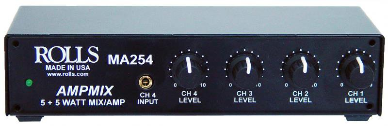 "5W Stereo Mixer Amp (4x RCA, 1/8"" Stereo Inputs)"