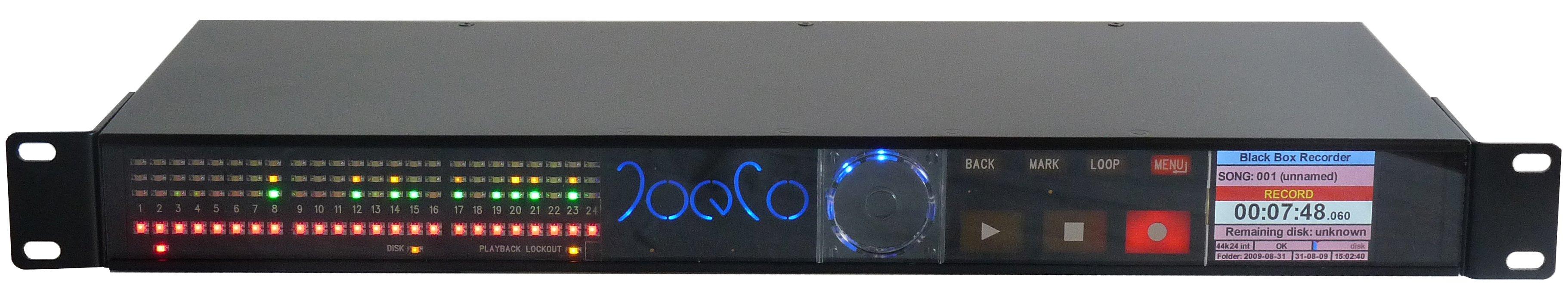 "Digital AES/EBU, Analog I/O 24 Track ""Blackbox Recorder"" (for Live Performance Recording)"
