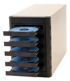 5-Bay MultiWriter Blu-Ray Tower