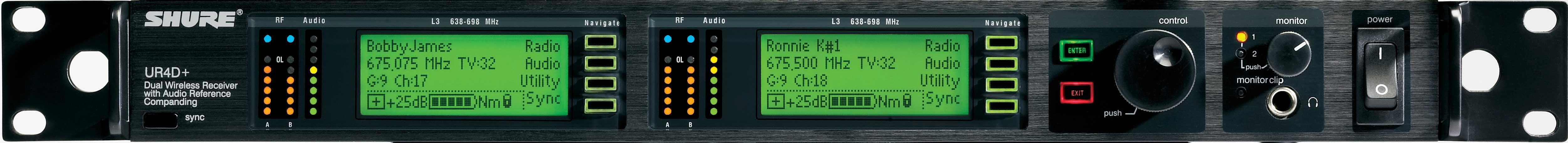 Dual UHF-R Receiver    470-530