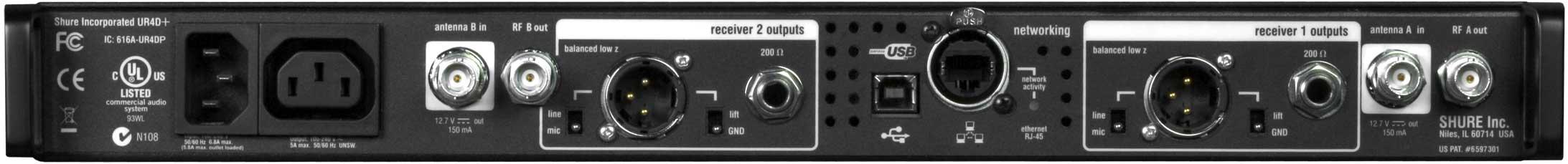 Dual UHF-R Receiver H4 (518-578)