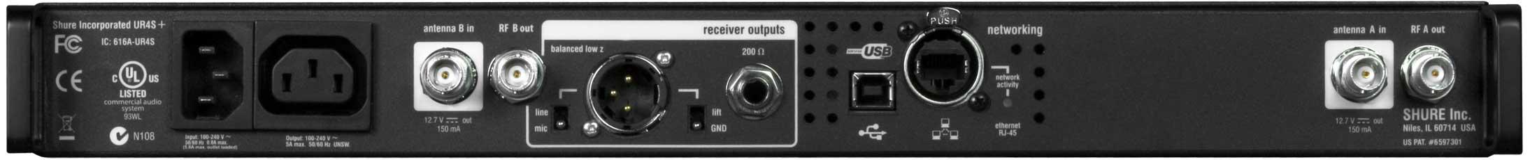 Single UHF-R Receiver H4 (518-578)