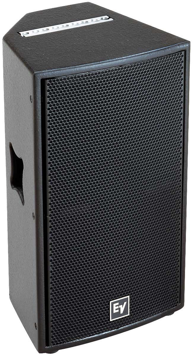"Loudspeaker, 12"" Two-Way, 300W Continuous, 1,200W Peak, Black"