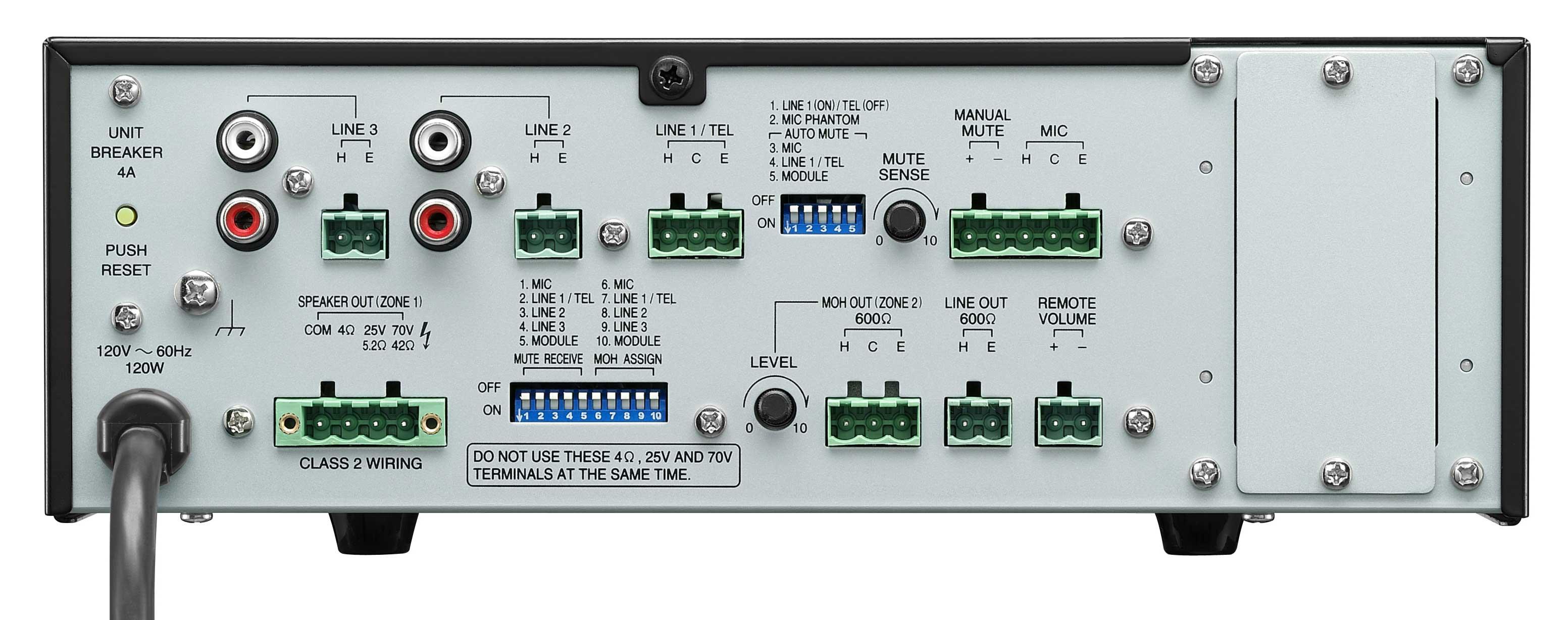 5 Input, 120W Mixer/Amplifier
