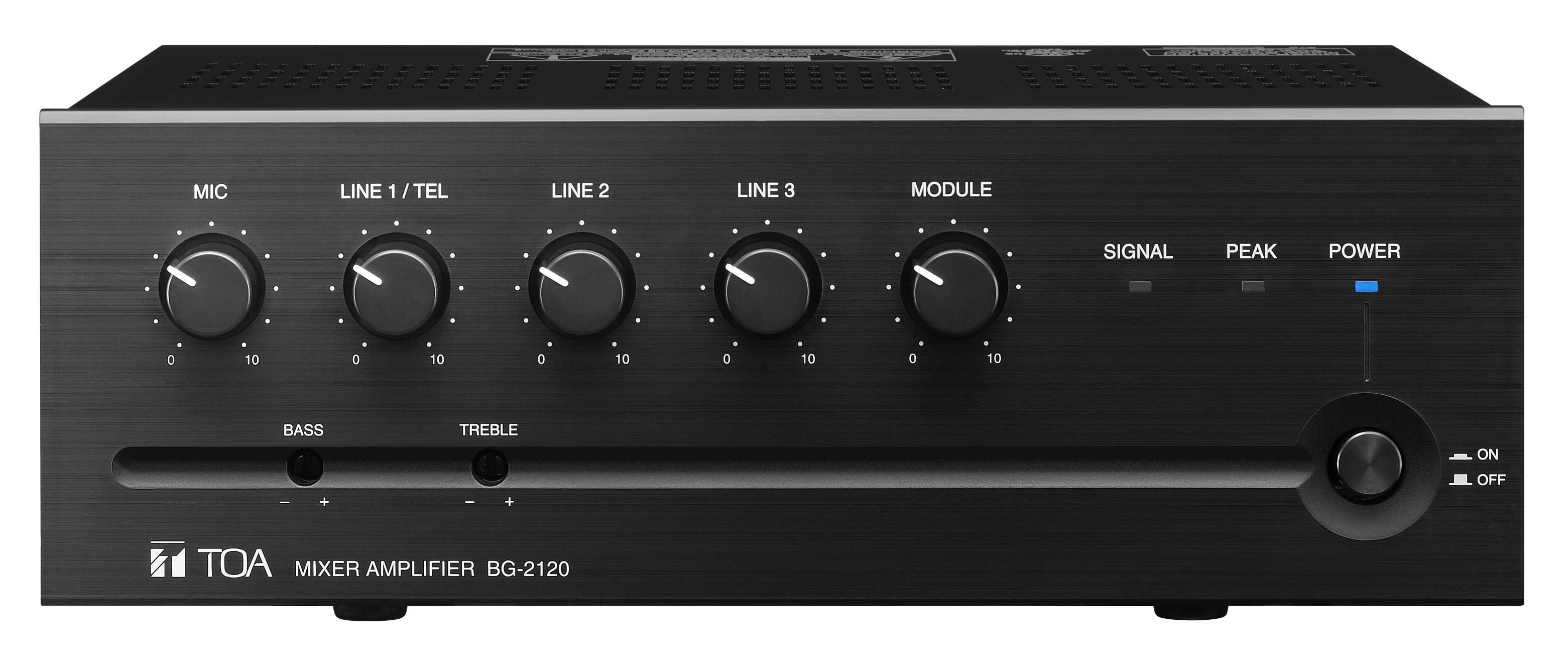 toa bg2120 5 channel mixer and power amplifier 120w full compass systems. Black Bedroom Furniture Sets. Home Design Ideas