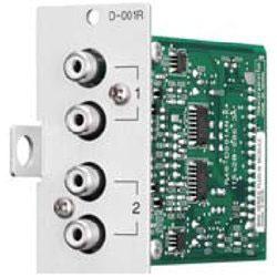 Dual Mic/Line Mode DSP, Dual RCA