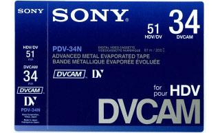 Tape DVCAM Digital Standard, 34 minutes, Pro
