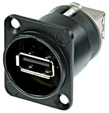 Neutrik NAUSB-W-B  Reversible USB Gender-Changing Adapter (Black Finish) NAUSB-W-B