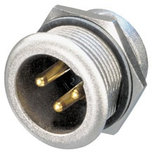 HD3-Pin XLR-M Panel-Mount Connector