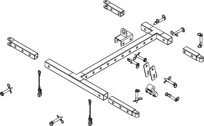 Crossbow Flying Frame (for Alpha, Alpha E Series Loudspeakers)