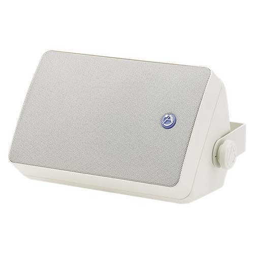 "30W, 5-1/4"" Weather-Resistant 2-Way Speaker in White with 70.7V/100V Transformer"