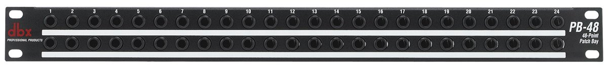 """48 Point Patch Bay with 1/4"""" TRS Connectors"""