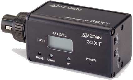 Azden 35XT  XLR Plugin Transmitter for 305UPR, 310UDR, 325UPR and 30UPR On-Camera Wireless Systems 35XT