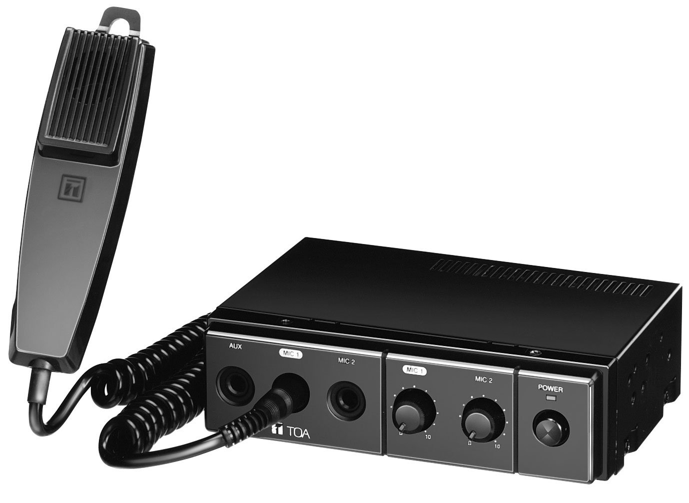 TOA CA115 Mixer/Amp, Mobile, 12VDC, 15W, With Mic CA115