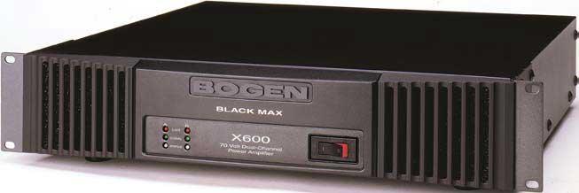 Power Amplifier, Stereo 600W/Ch @ 70V