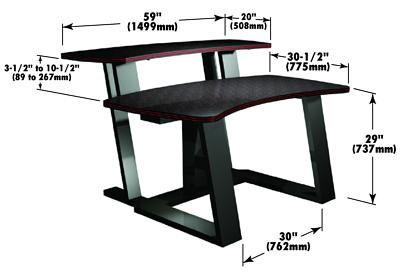 "Digital Desk & Riser 59""Wx30""D"