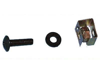100 Black Pilot Screws & Clips