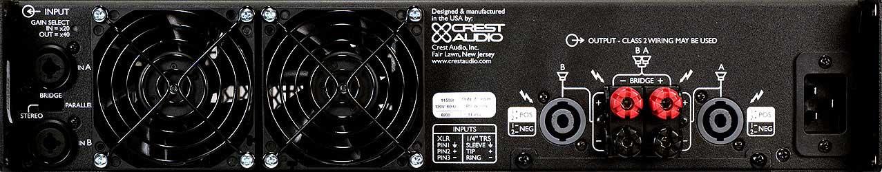 Power Amplifier, 825W @ 8 Ohms Stereo