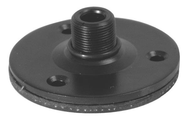 "Black 5/8"" Flange Mount with Shock Pad"