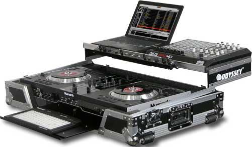 Black Label Numark NS7 Case (with Gliding Platform for NSFX Mini Digital Controller)