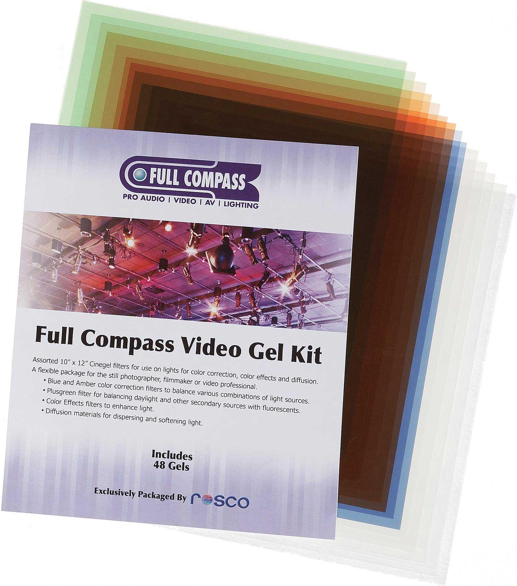 """10""""x12"""" Full Compass Video Gel Starter Kit"""