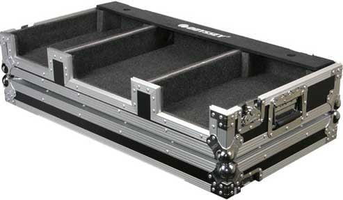 "Coffin Case for 2 DJ-Style CD Players, 12"" Mixer"