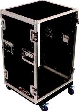 16RU Amp Rack Case with Wheels