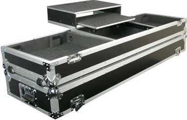 Glide Style DJ Coffin (for 2 Turntables, 1 Mixer, 1 Laptop, with Wheels)