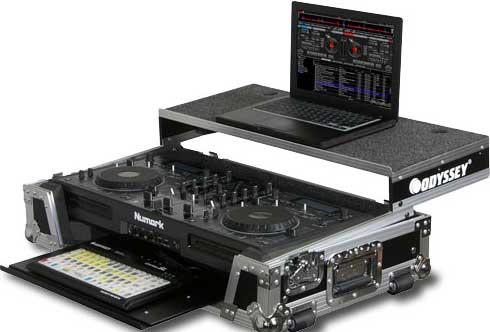 ATA Flight Case for Numark MIXDECK DJ Controller (with Sliding Laptop Platform & Keyboard Glide Tray)