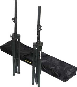 Odyssey LTS2X2B  Speaker Stand Pack: 2 Speaker Stands & Carrying Bag LTS2X2B