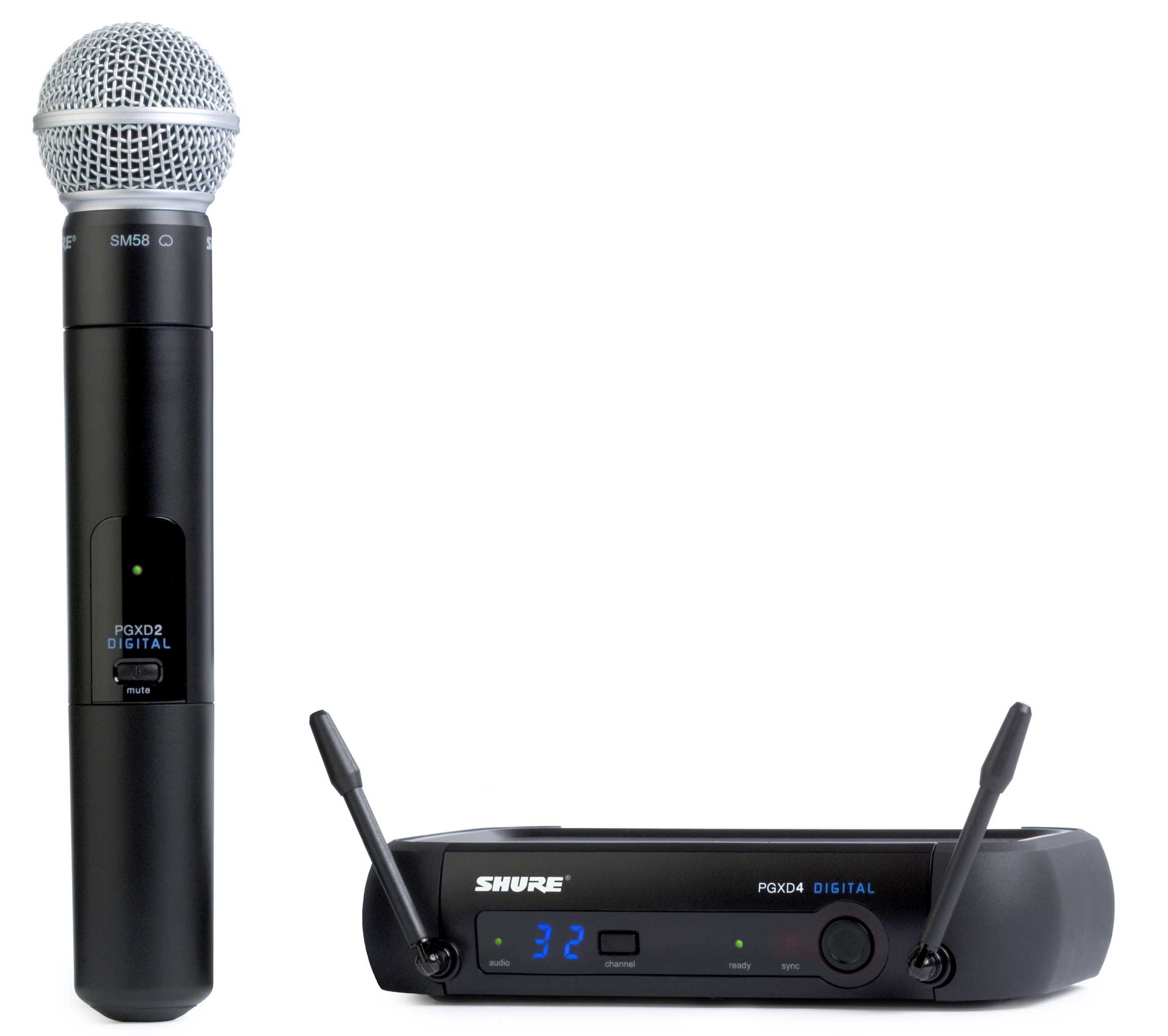 Wireless Digital Microphone System with SM58 Microphone