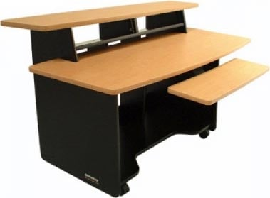 Presto4 Series Audio/Video Computer Workstation/Desk (Black Melamine Finish)