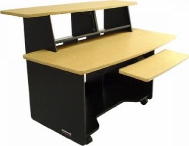 Presto Audio/Video/Computer Workstation (Black Melamine Finish, 8 RU Total)
