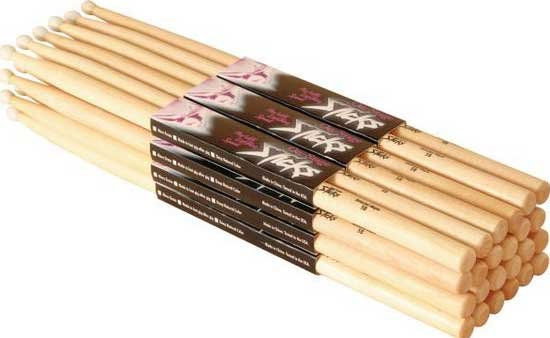 On-Stage Stands HN5B 12 Pairs of 5B Nylon Tip Hickory Drumsticks HN5B