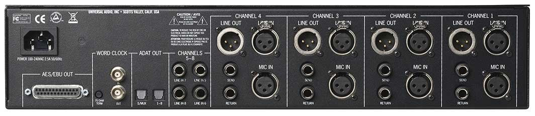 4 Channel Tone-Blending Microphone Preamplifier with Dynamics