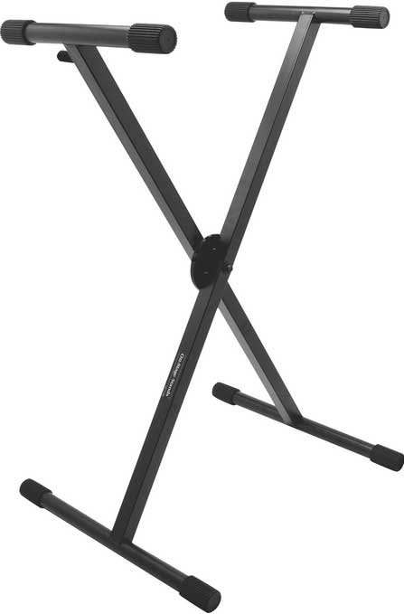 Heavy-Duty Single-Braced X-Style Keyboard Stand with ERGO-LOK System