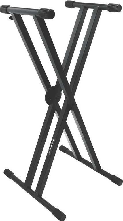 On-Stage Stands KS7291 Heavy-Duty Double-Braced X-Style Keyboard Stand with EGRO-LOK System KS7291