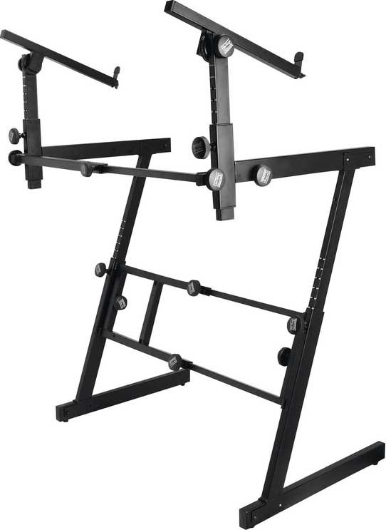 Heavy-Duty Folding Z-Style Keyboard Stand with 2nd Tier