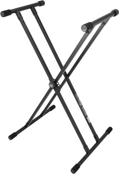 """""""Double X""""-Style Keyboard Stand with Lok-Tight Construction"""