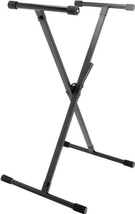 Single-Braced X-Style Keyboard Stand with LokTight Construction