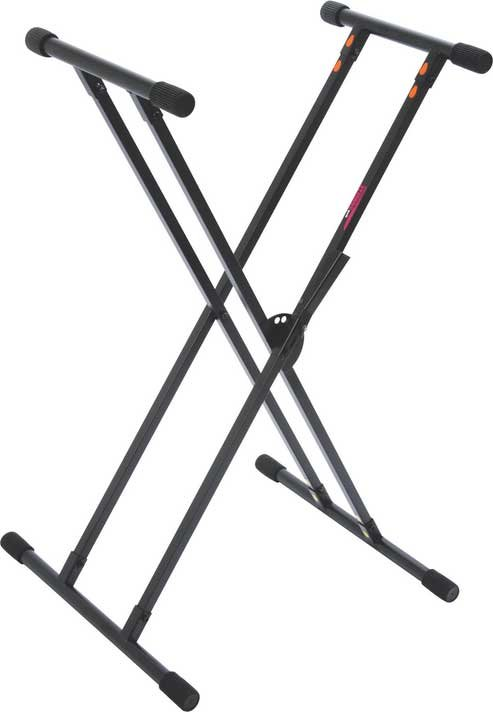 Double-Braced X-Style Keyboard Stand with quikSQUEEZE System