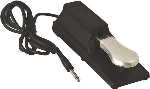 "Keyboard Sustain Pedal (with 6 ft. Cord, 1/4"" Input Jack)"