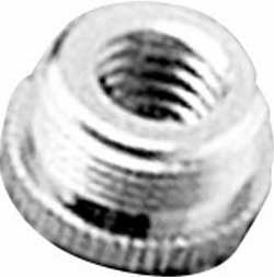 """Screw Thread Mic Stand Adapter (3/8"""" Female to 5/8"""" Male, with Knurled Outer Flange)"""