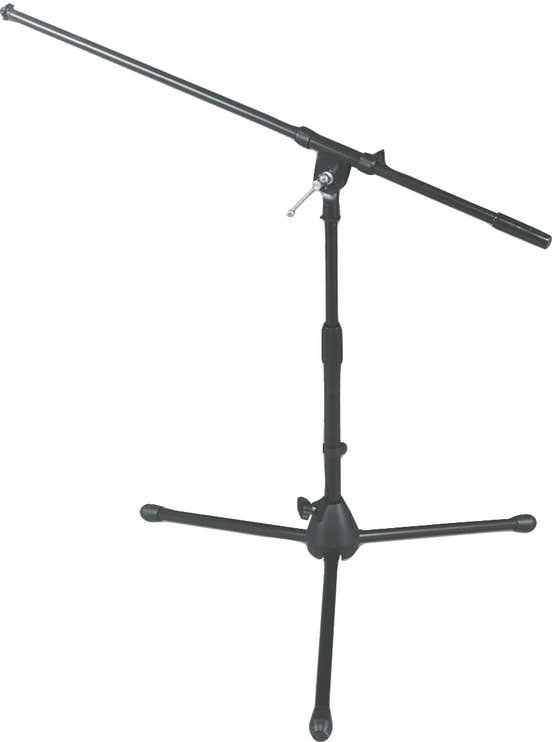 "17""-27"" Bass Drum/Amplifier Microphone Stand with 32"" Boom and Folding Tripod Base"